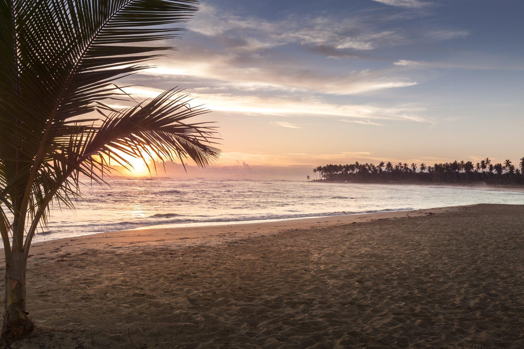 Tropical Beach Sunrise in Punta Cana, Dominican Republic